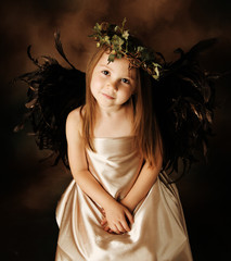 Little Gold and brown angel child