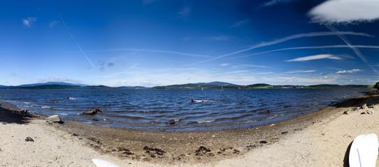 Panorama of lake Lipno