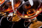 Three glasses of cognac