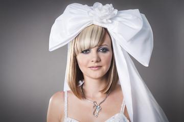 bride with weird hairdo