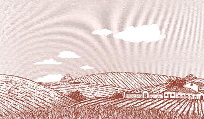 Tuscan Landscape Scene