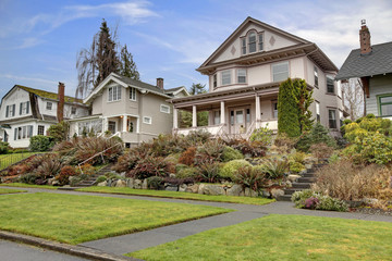 Houses in a historic neighboorhood