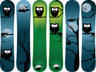 snowboard cartoon design