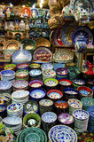 Grand Bazaar Istanbul - colorful ceramic plates souvenirs
