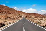 Road crossing an arid mountain on Lanzarote island,Canary,Spain poster