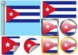 Flag Set Cuba