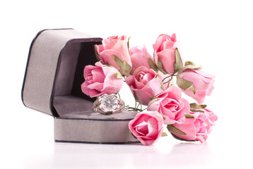 Loving Diamond Ring Gift Arrangement