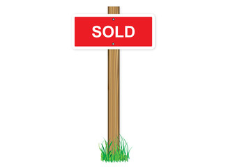 Sold sign vector