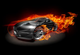 Fototapety Sports car burnout