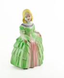Victorian Figurine on white background