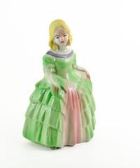 Victorian Figurine on white background