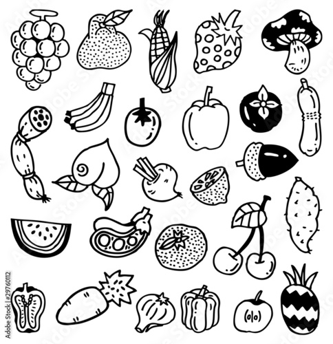 hand draw vegetable
