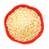Bowl Of Raw Rice