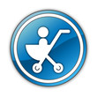 "Glossy Button ""Stroller / Baby Transport"""