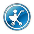 "Glossy Button ""Stroller / Baby Transport"""