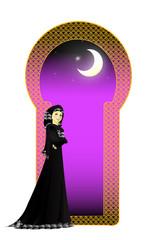 Muslim girl in Abayah