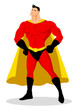 Stock vector of cartoon superhero posing