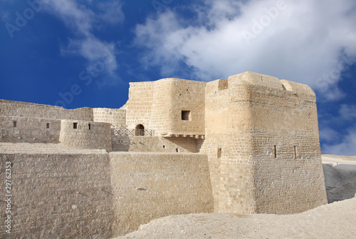 Bahrain fort with surrounding moat