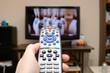 Leinwandbild Motiv TV Remote Control