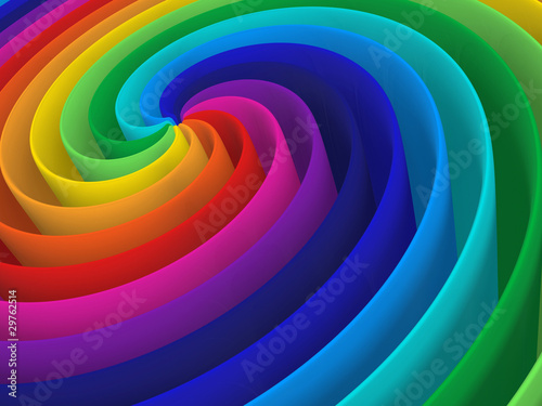 rainbow color spiral structure © Yang MingQi