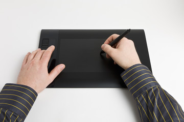 Arbeiten mit dem Grafiktablett