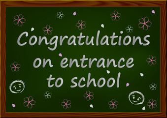 Congratulations on entrance to school