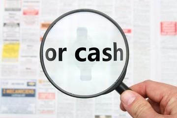 or cash