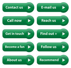 """CONTACT"" Web Buttons (contact customer service help kit vector)"