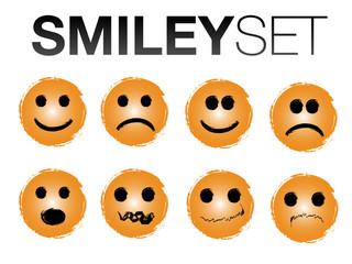 Smileys in orange