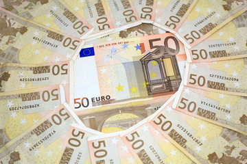 numerous Euro currencies