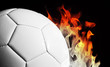 football and flames