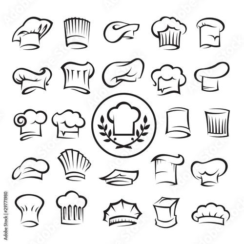 set of chef hats - 29771980