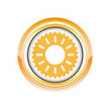 frise soleil été couronne logo picto web icône design symbole poster