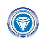 diamant bijou carat logo picto web icône design symbole poster