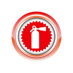 extincteur feu incendie logo picto web icône design symbole