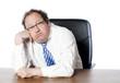 homme d'affaires obèse lassitude démotivé