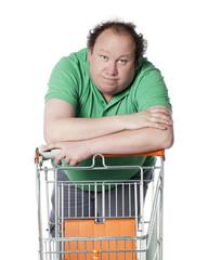 homme rêvant de e-shopping