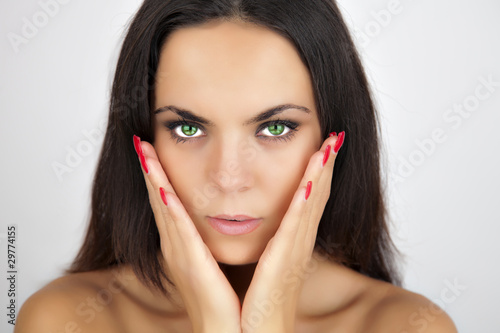 Bellezza occhi verdi