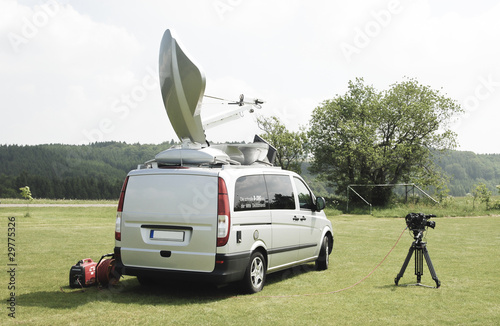 SNG Satellite Uplink Car