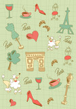 Paris icons design.