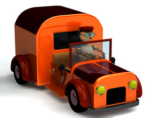 3d wood man as a driver