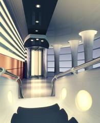 illustration of stylish interior