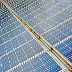 solar panels to produce energy from the sun