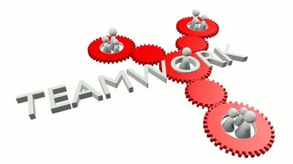 Teamwork Video (Weiss und Rot, Perspektive 1)