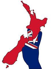 Neuseeland Handzeichen
