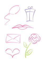 Clipart-Set: Symbole für Feste und Feiertage