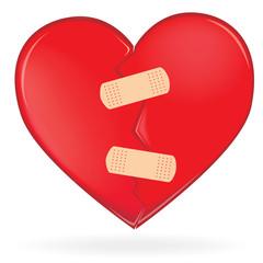 Coeur réparé après s'être cassé