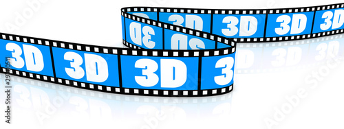 Film zigzag with word 3D