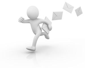 Running postman losing mails...