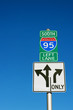 Directional sign to I-95 South in downtown Philadelphia